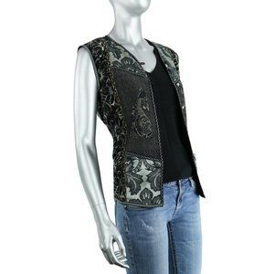 Coldwater Creek Patchwork Embroidered Vest